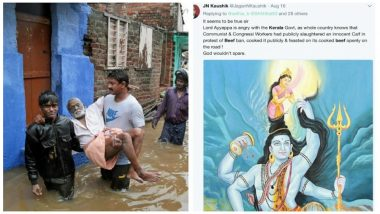 Kerala Floods: Bigots Unplugged on Twitter, Blame Calf Slaughter, Beef Consumption For 'God's Wrath on His Own Country'
